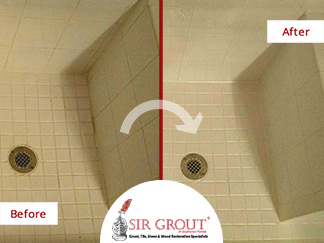 This Dull Naples Shower Recovers Its Shine with a Tile Cleaning Service