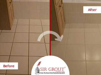 Grout Sealing Job Gives a Makeover to This Master Bathroom in Fort Myers, Florida