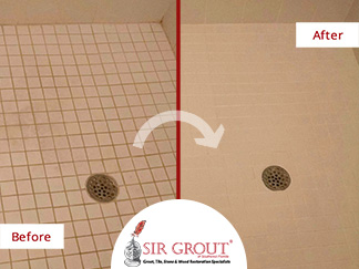 This Homeowner in Fort Myers, Florida Said Farewell to Her Stained Shower, Thanks to a Grout Sealing