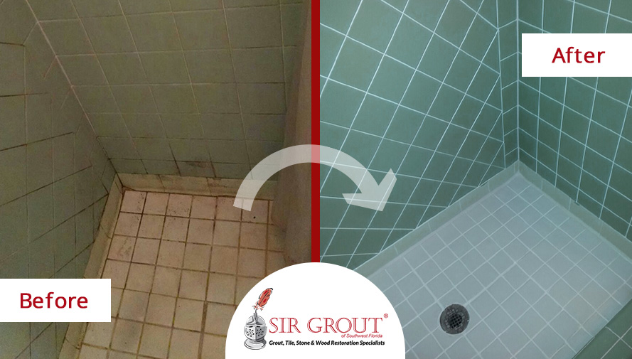 A Professional Tile Cleaning In Fort Myers FL Restored This Showers - Bathroom tile cleaning service