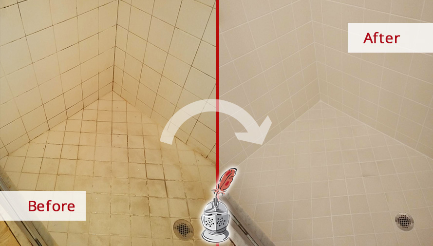 Picture of a Shower After a Hard Surface Restoration Service in Naples, FL