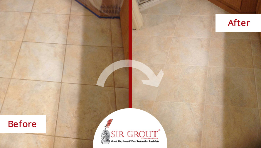 Grout Sealing Beautifies Customer's Kitchen Floor in Fort Myers, FL
