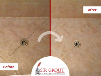 Caulking Services Bring New Life to Stained Shower Tiles in Naples Home