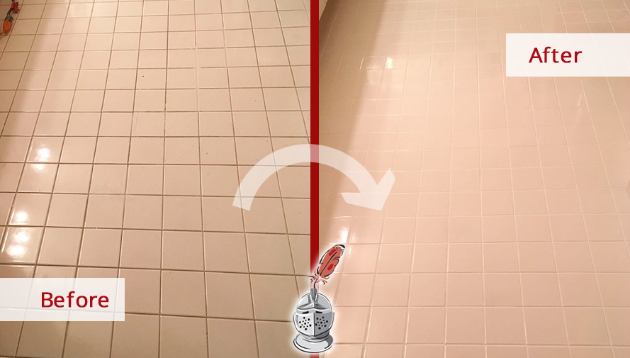 Before And After Picture Of How A Professional Grout Cleaning Job In Fort  Myers, FL