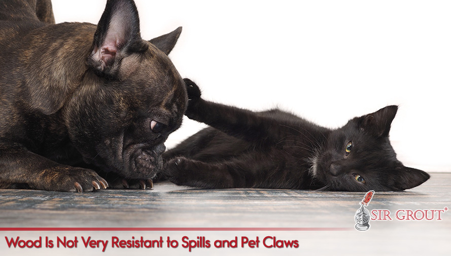 Wood Is Not Very Resistant to Spills and Pet Claws